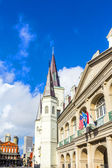 Beautiful Saint Louis Cathedral and Louisiana state museum in th — Stock Photo