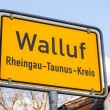 City limit sign Walluf - signage - Germany  — Stock Photo #50178467