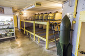 Casemate 35 3 at the Maginot line in Marckolsheim from inside — Stock Photo
