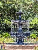 Fountain at public park in Bellingraths gardens — Stock Photo