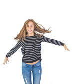 Cute attractive young girl — Stockfoto