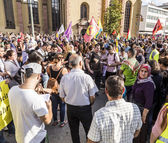 People demonstrate against murder and violation of kurdish peopl — Stock Photo