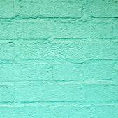 Green harmonic brick wall  — Stock Photo