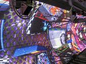 Neon lights in Fremont street, Las Vegas — Stock Photo
