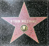 робин уильямс звезда на голливудской аллее славы — Стоковое фото