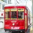 Постер, плакат: Streetcar serving Riverfront line in New Orleans