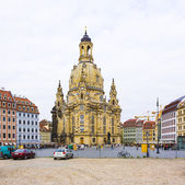 View of Frauenkirche in Dresden — Stock Photo