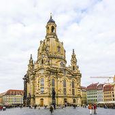 Vista de frauenkirche en dresden — Foto de Stock