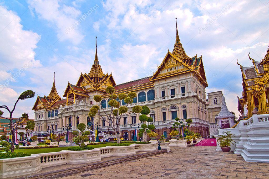 Chakri Mahaprasad Hall des Grand Palace in Bangkok mit ...