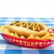 Chilidog on white background — Stock Photo