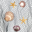 Seashells on fishing net — Stock Photo #12115146