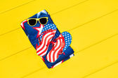 July fourth objects — Stock Photo
