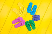 Flip Flop Assortment — Stock Photo
