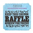 Classic raffle ticket — Stock Photo