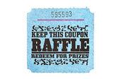 Classic raffle ticket — Stock Photo