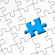Stock Photo: Puzzle with missing piece