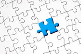 Puzzle with missing piece — Stock Photo