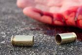 Man shot in street — Stock Photo