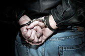 Man in handcuffs — Stock Photo