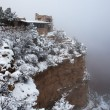 Stock Photo: Foggy day at Grand Canyon