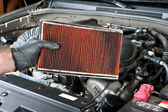 Dirty air filter — Stockfoto