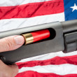 Stock Photo: Americloading shotgun