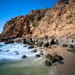 Secluded beach cove - Stok fotoğraf