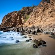Secluded beach cove - Stock Photo