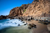 Secluded beach cove — Stock Photo