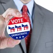 Democratic vote pin — Stock Photo