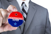 Independent voter — Stock Photo