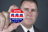 Republican voter — Stock Photo