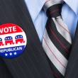 Stock Photo: Republicvote pin