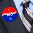 Independent voter pin — Stock Photo #32885387