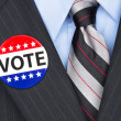 Stock Photo: Voting politician