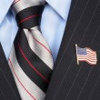 Stock Photo: AmericFlag lapel Pin