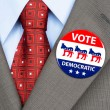 Democrat vote badge — Stock Photo