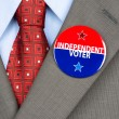 Independent voter pin — Stock Photo