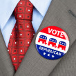 Stock Photo: Republican vote badge