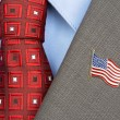 AmericFlag lapel Pin — Stock Photo #32889539