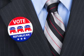 Republican vote pin — Stock Photo