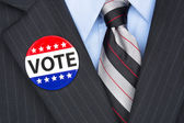 Voting politician — Stock Photo