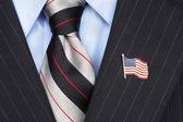American Flag lapel Pin — Stock Photo