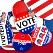Collection of vote badges — Stock Photo #32890905