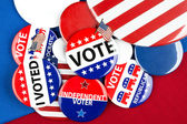 Collection of vote badges — Stock Photo