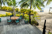 Resort sundeck — Stock Photo