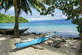 Outrigger on Kioa Island — Stock Photo