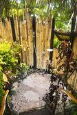 Tropical ooutdoor shower — Stock Photo