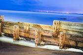 Wooden break wall — Stock Photo