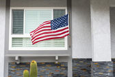 Flag on house — Stock Photo